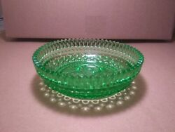 Vintage Depression Green Glass Candy Dish 5quot; Diameter Mint $9.99