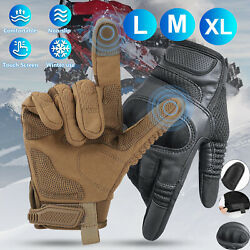 Leather Gloves Motorcycle Motorbike Touch Screen Full Finger Ski Moto Driving $16.97