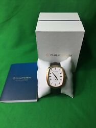 Rare Philip Stein Mens Alliagator Embossed Leather Modern Watch $399.99