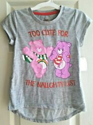 Care Bears Too Cute for the Naughty List Graphic Print Girl#x27;s Shirt Size 5T NWT