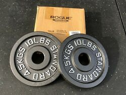 Olympic Weight Plate Set Rogue Fitness Cast Iron 1 Pair of 10 lb plates $96.00