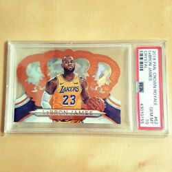 2018 19 Panini Crown Royale LeBRON JAMES Crystal 23 99 Jersey No. 1 1 PSA 10 $999.00
