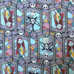 Nightmare before Christmas Sally amp; Jack cotton fabric 18quot; x 22quot; Fat Quarter $6.95