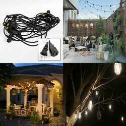 UL Listed LED Commercial Grade Outdoor String Lights 48Ft W 15 Dropped Sockets 2