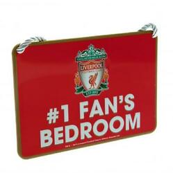 Liverpool FC #1 Fan#x27;s Metal Bedroom Sign 16cm x 11cm Licensed Product GBP 5.95