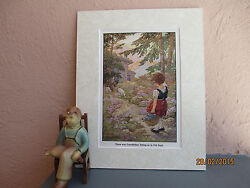 vintage illustration of Heidi going to Grandfather#x27;s by Clara Burd 1925 $11.50