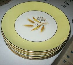 6 Vintage Century Service Autumn Gold Salad Plates Discontinued Pattern $17.99