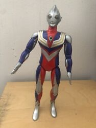Ultraman Tiga DX Multi Posable Figure Large Lights Up 1996 Bandai