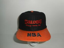 Vintage 90s Spalding Official Gameball NBA Basketball Wool Strapback Cap Hat $26.99