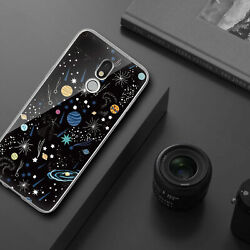 For LG Stylo 5 Plus 5x 5v Phone Case Cover Universe TPU Black Tempered Glass $8.95