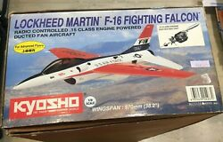 F 16 FIGHTING FALCON OS MAX .15 ENGINE KYOSHO 11116 DUCTED FAN VINTAGE ARF KIT $345.00