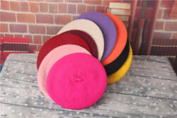 Classic Girly Beret Hat Wool Soft Warm French Style Fluffy Cap For Kids Girls $7.99