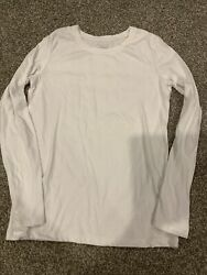Cherokee Ultimate Tee Girls White Long Sleeve Top T Shirt Supreme Size XL 14 16 $11.99