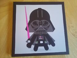 STAR WARS WALL ART CANVAS PRINT PICTURE DARTH VADER 10 inch GBP 4.23