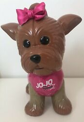 JoJo Siwa BowBow Yorkie Dog Ceramic Coin Money Piggy Bank Nickelodeon 2018 $24.69
