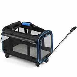 YOUTHINK Pet Wheels Rolling Carrier Removable Wheeled Travel Carrier for Pets... $113.36