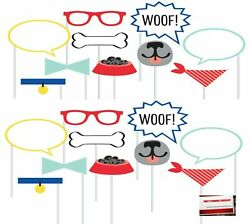 Puppy Dog Doggie 20 pcs Party Photo Booth Props Plus Party Planning Checkl... $12.27