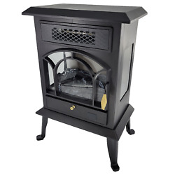 Warm Living 1500W 17quot; Freestanding Infrared Stove Heater with Remote $49.99