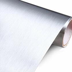 Stainless Steel Silver Contact Paper Vinyl Self Adhesive Film Kitchen Countertop $31.89