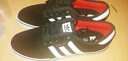 red black casual adidas shoes $40.00