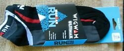 Wigwam Ultimax Ironman mens black L 9 12 socks w redamp;gray accenting $8.00