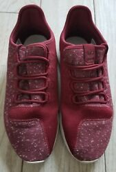 Adidas Shoes Sneakers Size 8 1 2 Red maroon white tubular $39.50