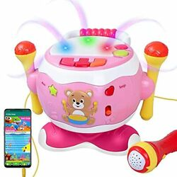 Rabing Baby Musical Drum Toys 5 in 1 Toddler Instruments With Microphone amp;amp $31.57