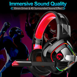 Gaming Headset Gaming Wire controll Headphones LED For PS4 Xbox One PC $26.22