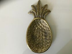 Vintage Brass Pineapple Footed Coin Dish 8 Inches $15.99