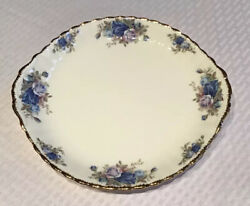 ROYAL ALBERT FINE BONE CHINA quot;MOONLIGHT ROSEquot; HANDLED CAKE PLATE MADE IN ENGLAND $29.99