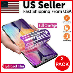 2 Pack HYDROGEL Screen Protector Samsung Galaxy S20 Ultra S10 S9 S8 Plus Note 20 $4.45