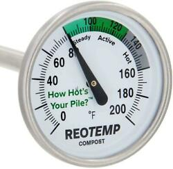 REOTEMP Backyard Compost Thermometer 20 Inch Stem With PDF Composting Guide $29.17