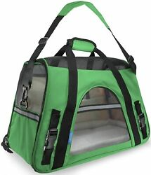 Large Pet Travel Carriers 20.9x10.2x12.6 22lb 10KG Soft Sided Portable Bags Dog $36.99