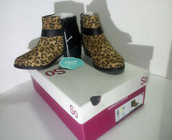 Size 12 Little Girls Ankle Boots New In Box Leopard print zip w buckle accent $37.77