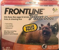 Frontline Plus for SMALL Dogs 5 22 lbs. 6 Doses GENUINE GUARANTEED FREE SHIP $44.99