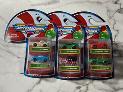 Micro Machines Set of 3 Two Packs with 6 Total Cars 2020 Christmas $22.88