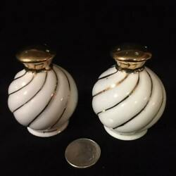 Vintage White and Gold Swirl Salt and Pepper Shakers $6.00