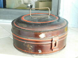 EARLY 19TH CENTURY ANTIQUE TOLE WARE SPICE TIN CANISTER SET $99.99