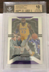 2019 20 Prizm Silver Lebron James BGS 10 Epic $1999.00