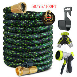 3X Stronger Brass Deluxe Expandable Flexible Garden Water Hose 50ft75ft100ft $31.49