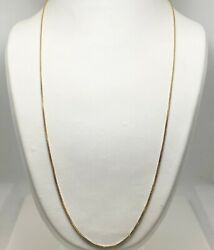22quot; Solid 18k Yellow Gold Box Link Chain Necklace Italy 8099 $249.00