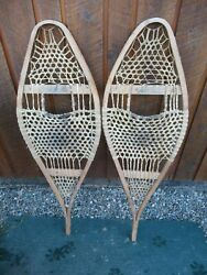 ANTIQUE Snowshoes 41quot; Long x 13quot; Wide VERY NICE AND OLD $79.59