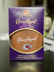 Kansas City Chiefs Crown Royal Box Bag Empty Bottle $66.00