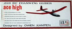 ACE HIGH MK II PLAN PARTS PATTERNS for a 70quot; RC Powered Glider Model Airplane $17.95