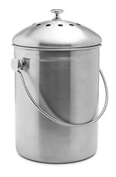 Stainless Steel Compost Bin 1.3 Gallon Includes Charcoal Filter $32.29