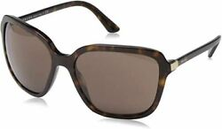 Prada Sport Sun Women#x27;s Designer Oversized Sunglasses Havana Brown Lens 58mm $144.46