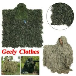 Tactical Camouflage Sniper Ghillie Suit Woodland Desert outdoor For Hunting Army