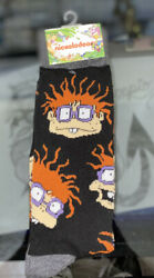 💥New Nickelodeon RUGRATS Mens NOVELTY CREW Socks CHUCKIE SIZE 6 12💥 $7.99