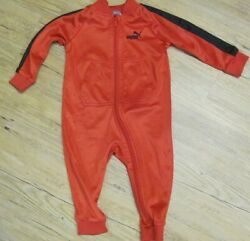 PUMA Baby Boy 1pc Long Sleeve Red amp; Black Outfit Size 12M $7.99