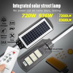 93600LM Commercial LED Solar Street Light Motion Sensor Dusk to DawnRemote IP67